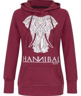 """Hannibal Gin Hoodie Girly """"burgund"""""""