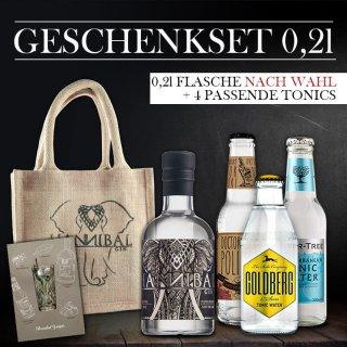 Geschenkset 0,2l -Gin Frei Wählbar