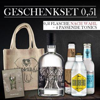 Geschenkset 0,5l -Gin Frei Wählbar