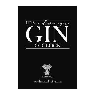 Postkarte  -It´s Always Gin O´clock-